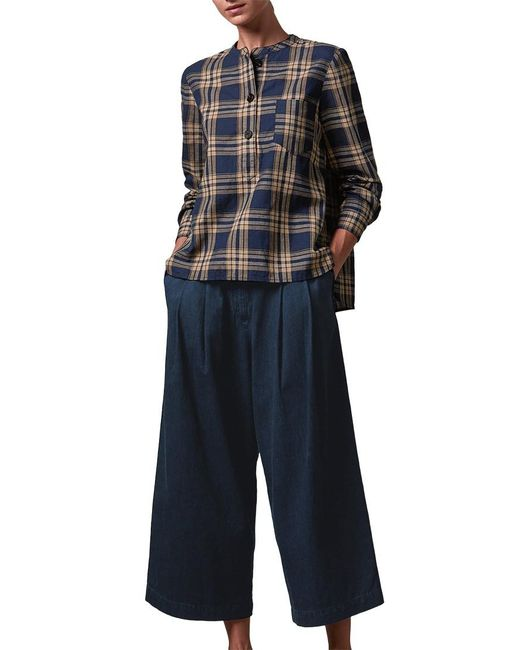 Toast | Blue Pleat Front Trousers | Lyst