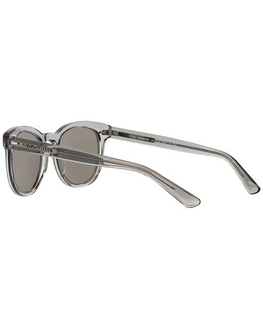 d79cc4e07b3 ... Lyst Dolce   Gabbana - Metallic Dg4254 Oval Half Frame Sunglasses for  Men ...
