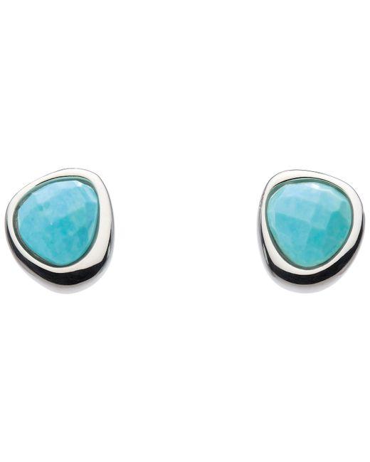 Kit Heath - Blue Coast Pebble Turquoise Stud Earrings - Lyst