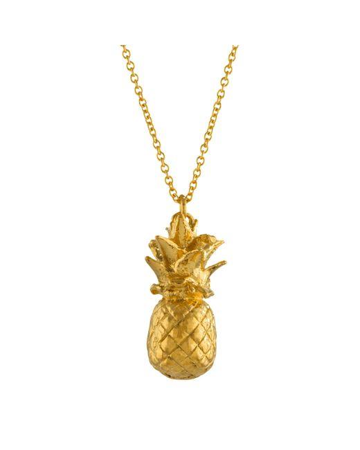 Alex Monroe - Metallic Long Pineapple Pendant Necklace - Lyst