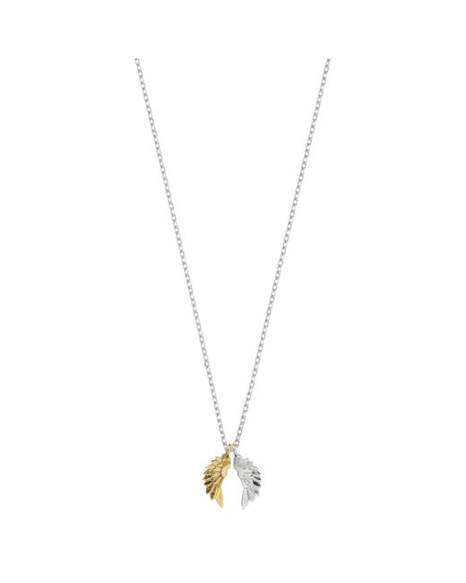 Estella Bartlett | Metallic Silver And Gold Plated Wings Pendant | Lyst