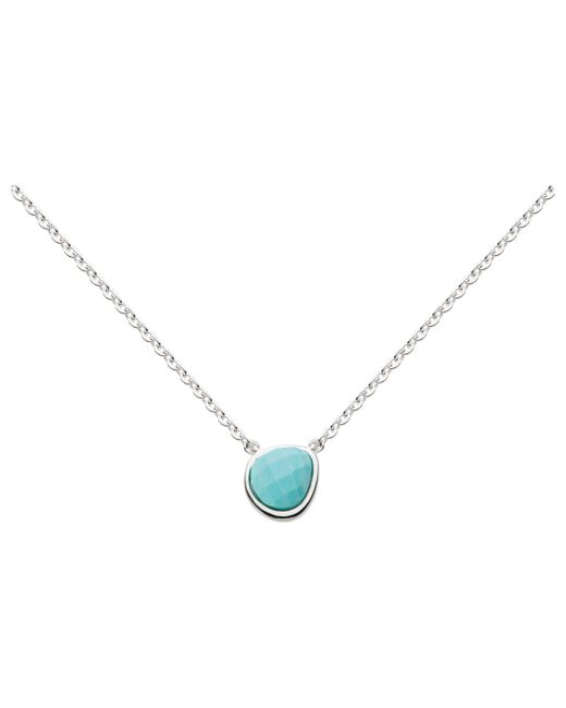 Kit Heath - Metallic Coast Pebble Turquoise Pendant Necklace - Lyst