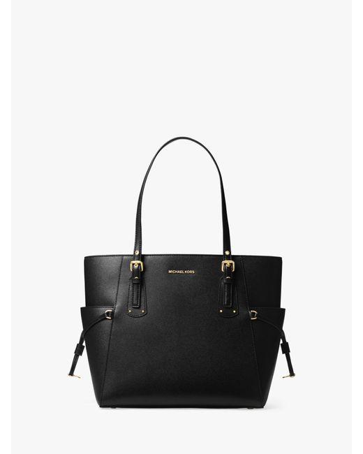 6b6c18b4b695 Michael Kors - Black Michael Voyager East West Leather Tote Bag - Lyst ...