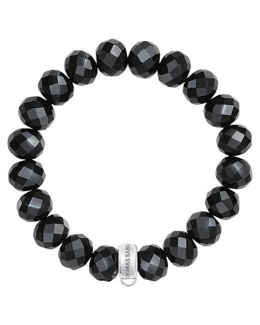 Thomas Sabo - Black Charm Club Obsidian Bracelet - Lyst