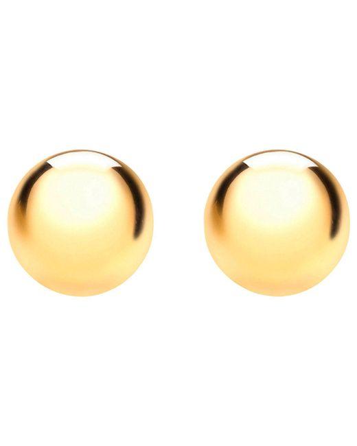 Ib&b - Metallic 9ct Yellow Gold Half Ball Stud Earrings - Lyst
