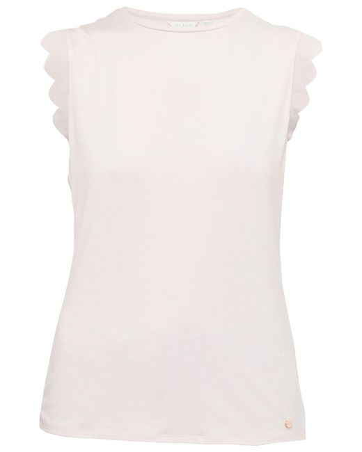 Ted Baker - Pink Elliah Scallop Detail Top - Lyst