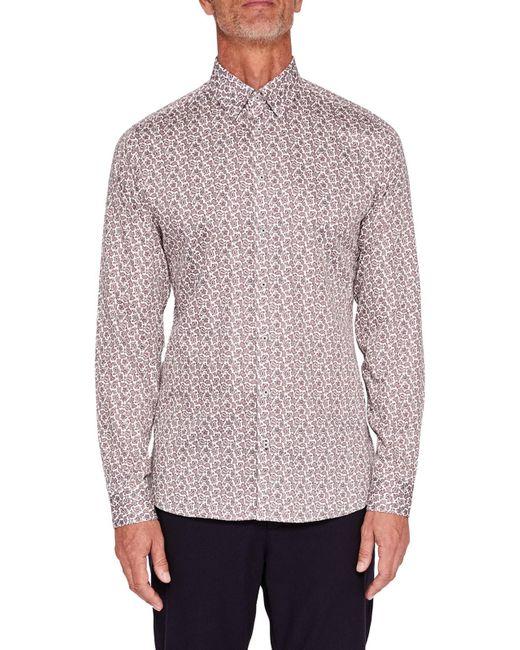 Ted Baker | White T For Tall Lysee Long Sleeve Shirt for Men | Lyst