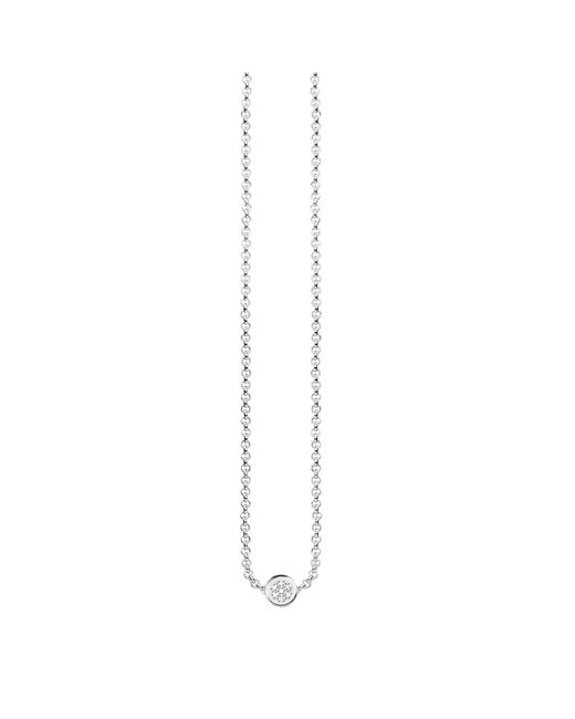 Thomas Sabo - Metallic Glam & Soul Diamond Disc Necklace - Lyst