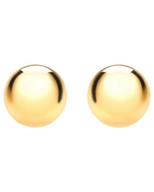 Ib&b | Metallic 9ct Yellow Gold 6mm Ball Stud Earrings | Lyst