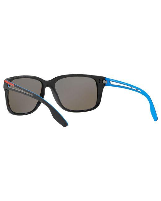 fb6d8f9ac4 ... Lyst Prada - Blue Linea Rossa Ps 03ts Men s Polarised Rectangular  Sunglasses for Men ...
