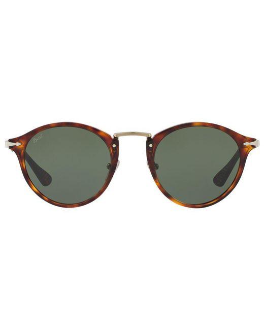 de63155a8bd04 ... Persol - Gray Po3166s Calligrapher Edition Oval Sunglasses for Men -  Lyst ...