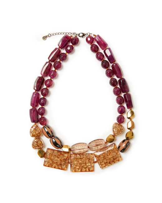 John Lewis | J114 Double Layered Chunky Bead Necklace | Lyst