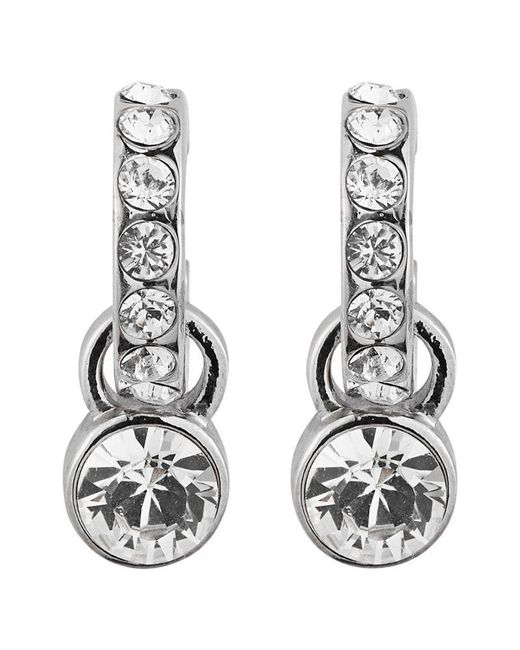 Dyrberg/Kern - Metallic Laurino Swarovski Crystal Earrings - Lyst