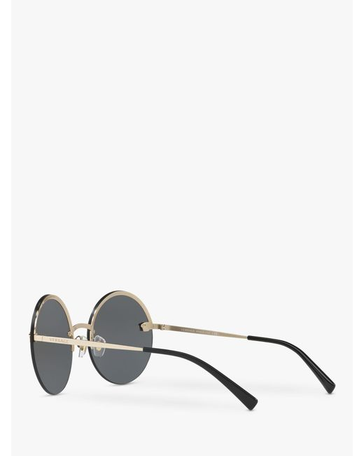 e7d5c19b9b ... Versace - Yellow Pale Gold Ve2176 Round Sunglasses - Lyst ...