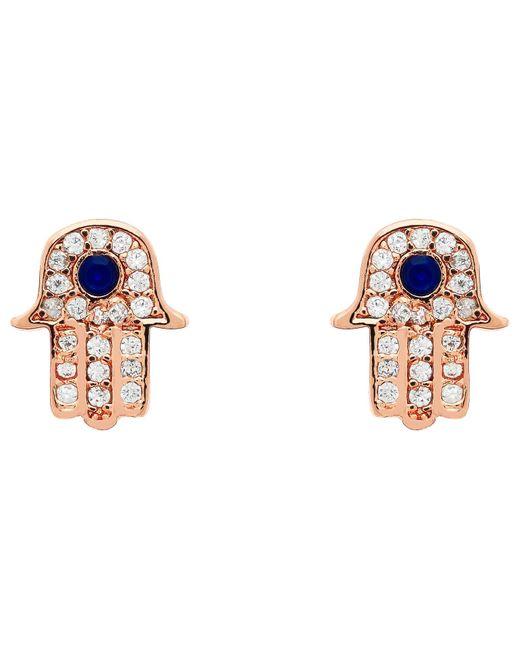 Melissa Odabash | Multicolor Crystal Hamsa Stud Earrings | Lyst