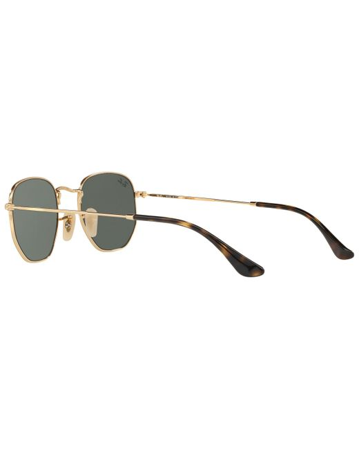 27a52f52c0 ... Ray-Ban - Metallic Rb3548 Hexagonal Flat Lens Sunglasses for Men - Lyst  ...