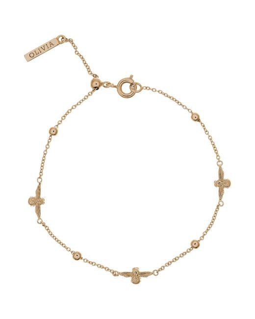 Olivia Burton | Metallic 3d Bee And Ball Chain Bracelet | Lyst