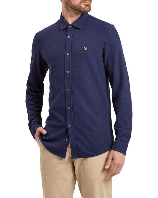 Lyle & Scott | Blue Honeycomb Jersey Shirt for Men | Lyst