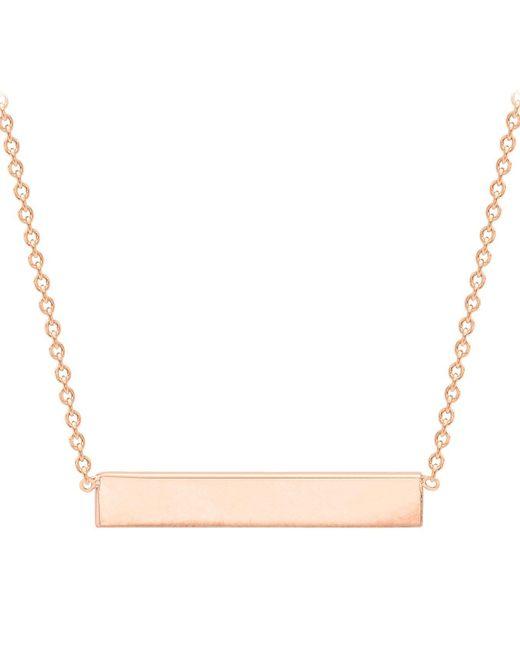 Ib&b - Metallic 9ct Gold Horizontal Bar Initial Pendant Necklace - Lyst