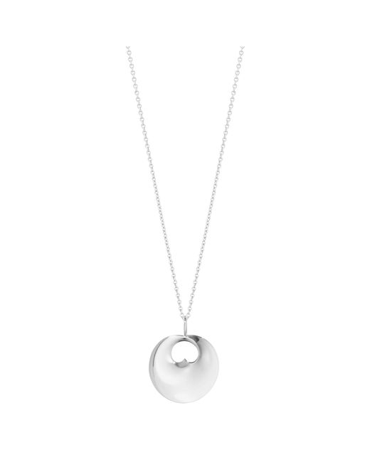 Georg Jensen | Metallic Hidden Heart Pendant Necklace | Lyst
