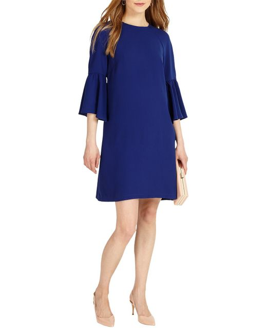 Phase Eight | Blue Annabell Fluted Sleeve Dress | Lyst