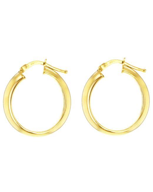 Ib&b - Metallic 9ct Yellow Gold Large Creole Hoop Earrings - Lyst