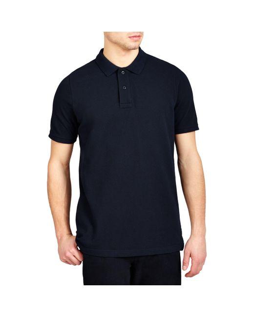 John Lewis - Blue Organic Cotton Short Sleeve Polo Shirt for Men - Lyst
