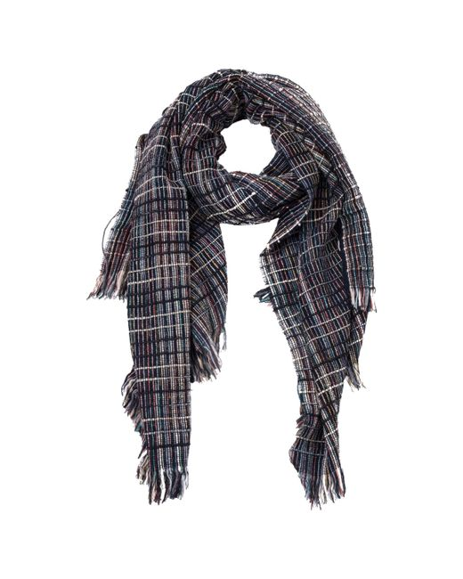 French Connection - Blue Zellar Weave Scarf - Lyst