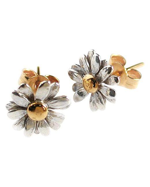Alex Monroe   Metallic Classic Daisy Stud Earrings   Lyst
