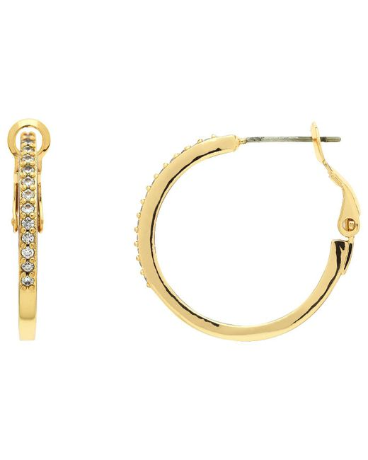 Melissa Odabash - Metallic 10660 Crystal Hoop Earrings - Lyst