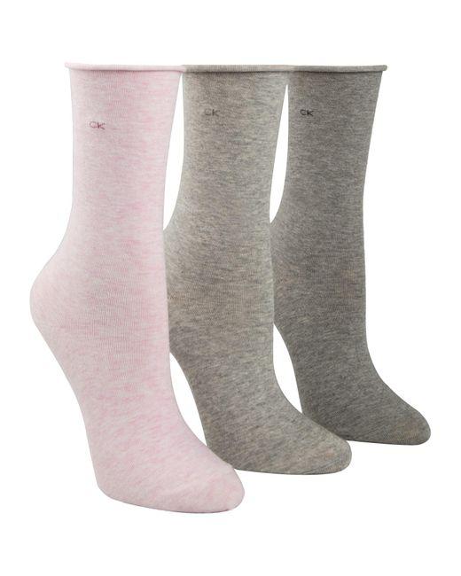 Calvin Klein   Multicolor Roll Top Crew Socks   Lyst