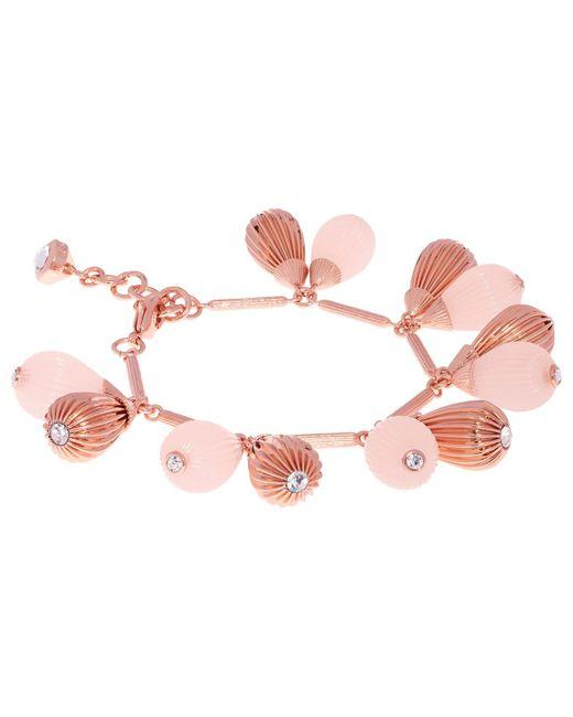 Ted Baker | Pink Perses Mini Plisse Swarovski Crystal Drop Bracelet | Lyst