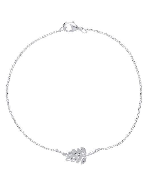 Estella Bartlett | Metallic Fern Bracelet With Leaf Charm | Lyst