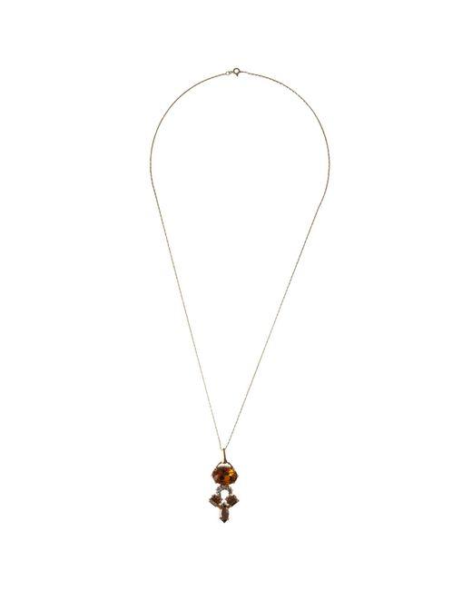 Cabinet | Metallic Swarovski Crystal Crested Pendant | Lyst