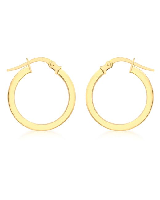 Ib&b - Metallic 9ct Yellow Gold Creole Hoop Medium Earrings - Lyst