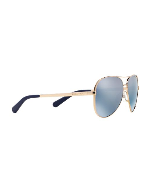 9220b533a68a5 ... Michael Kors - Metallic Mk5004 Chelsea Polarised Aviator Sunglasses -  Lyst