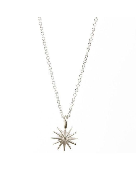 Dogeared | Metallic Sterling Silver Accomplish Magnificent Things Starburst Reminder Necklace | Lyst