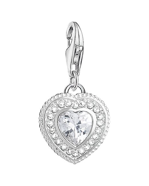 Thomas Sabo - Metallic Charm Club Cubic Zirconia Antique Heart Charm - Lyst