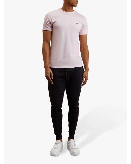 31bdca8fc Lyle & Scott - Multicolor Plain Crew Neck Stretch T-shirt for Men - Lyst ...
