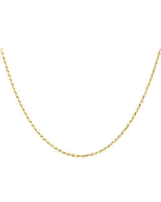 Ib&b - Metallic 9ct Gold Diamond Cut Rope Chain - Lyst