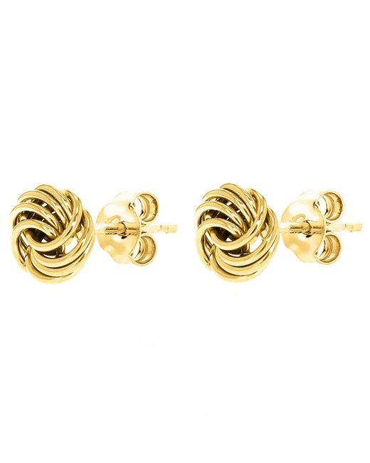 John Lewis - Metallic Ibb 9ct Gold Mini Rose Stud Earrings - Lyst