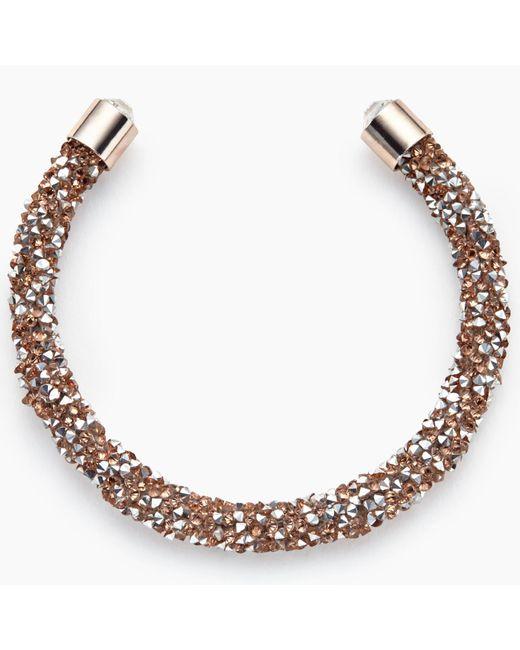 John Lewis | Metallic Cut Glass Sparkle Open End Bracelet | Lyst