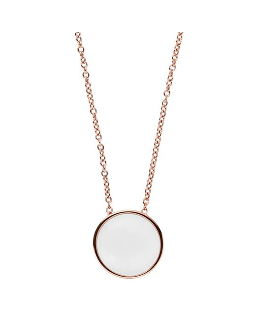 Skagen | Metallic Sea Glass Round Pendant Necklace | Lyst