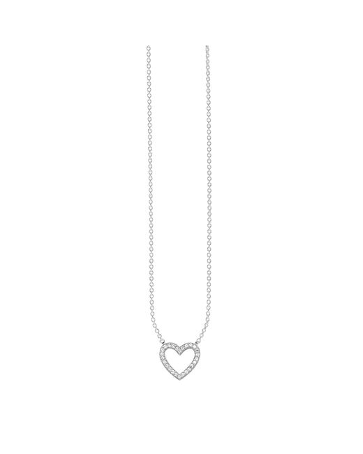 Thomas Sabo - Metallic Glam & Soul Filigree Cubic Zirconia Pave Heart Pendant Necklace - Lyst