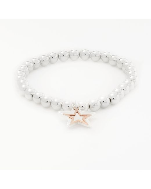 John Lewis - Metallic Beaded Star Charm Bracelet - Lyst