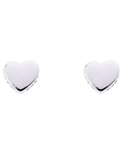 Ted Baker - White Harly Heart Stud Earrings - Lyst