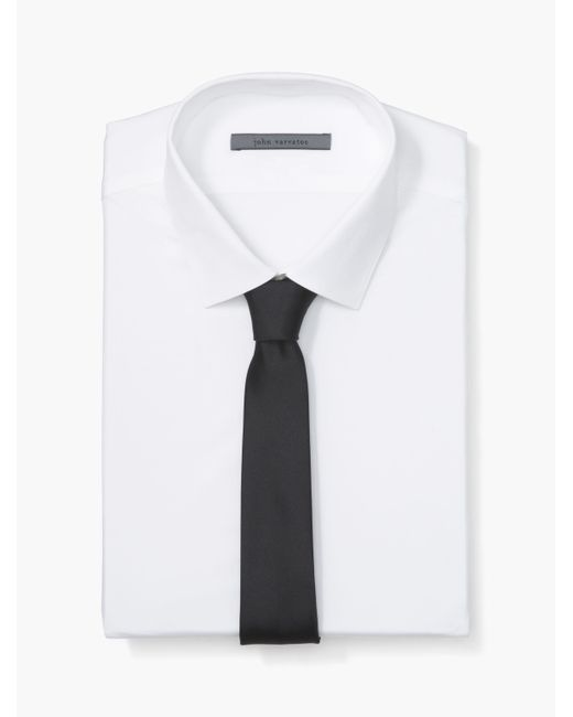 John Varvatos - White Solid Skinny Tie for Men - Lyst