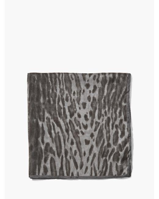 John Varvatos   Gray Crinkled Leopard Printed Light Weight Bandana for Men   Lyst
