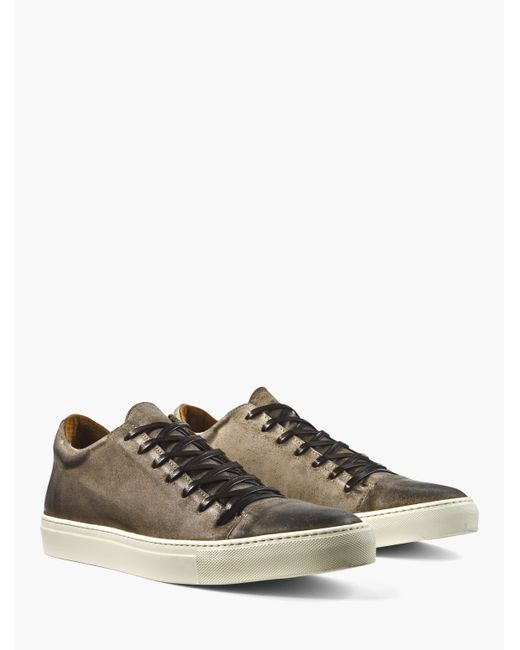 John Varvatos - Brown Reed Low Top Sneaker for Men - Lyst