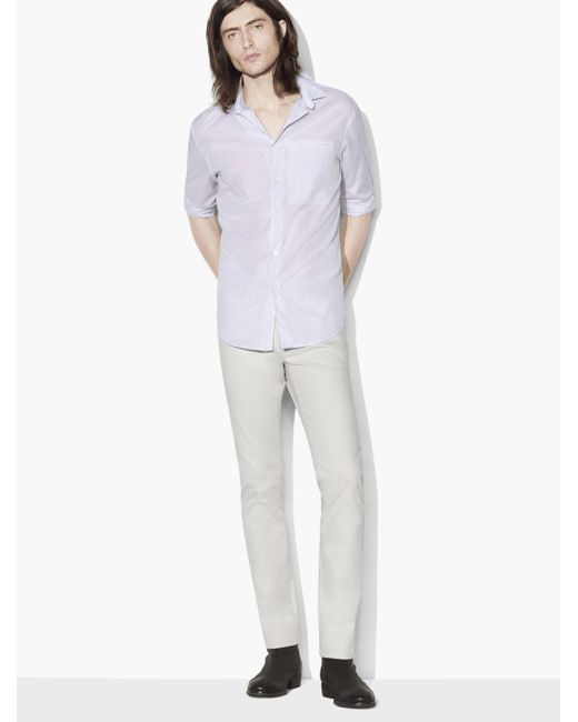John Varvatos | Multicolor Dobby Stripe Sport Shirt for Men | Lyst